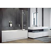 Штора на ванну BESCO Ambition 2S 80.5х140 хромированная