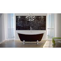 Ванна отдельностоящая BESCO AMELIA 190x77 на белых ножках