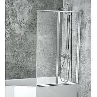 Штора на ванну BESCO Ambition premium -2S 80.5х140 хромированная