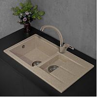Кухонна мийка Fancy Marble Alabama 206080007, колір пісочний