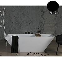 Чорна ванна окремостояча Fancy Marble Edward 180x80 11180001