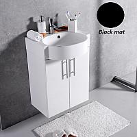 Черная тумба с умывальником Fancy Marble Ibiza 50