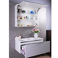 Дзеркальна шафка для ванної кімнати Fancy Marble Okinava 900